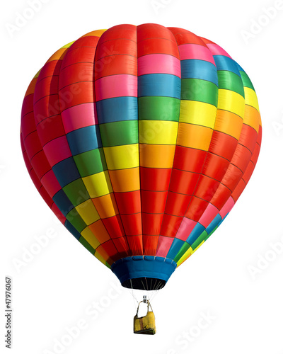 Leinwanddruck Bild hot air balloon isolated