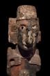 Pre-Columbian Mesoamerican stone statue.
