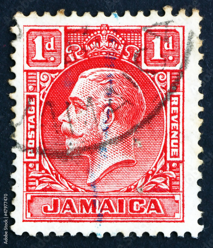 Postage stamp Jamaica 1921 King George V
