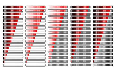 red different loader progress bar, vector
