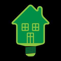 eco huse bulb, vector