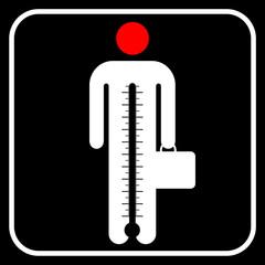 symbol business man under stress, vector