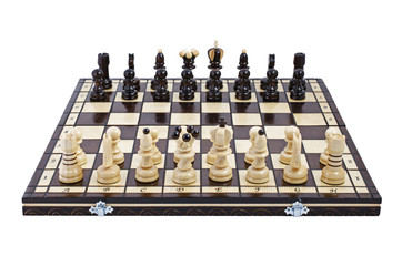 Chess, isolated over white