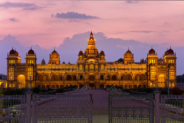 Mysore Place glowing at twilight time