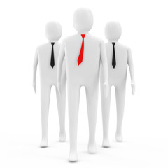 3d People on white background (Leadership Concept)