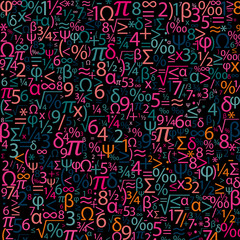 Colorful background with numbers, vector