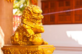 Fototapety golden lion statue in thailand