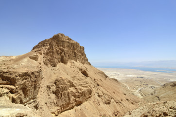 Masada stronghold mountain.