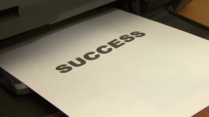Printing success