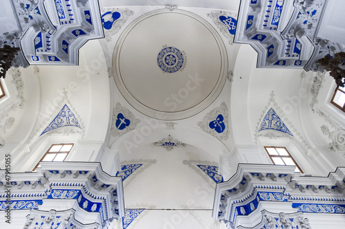 europe, italy, sicily, interior of a baroque church