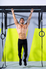 Crossfit toes to bar man pull-ups 2 bars workout