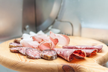 Traditional italian cold cuts appetizers
