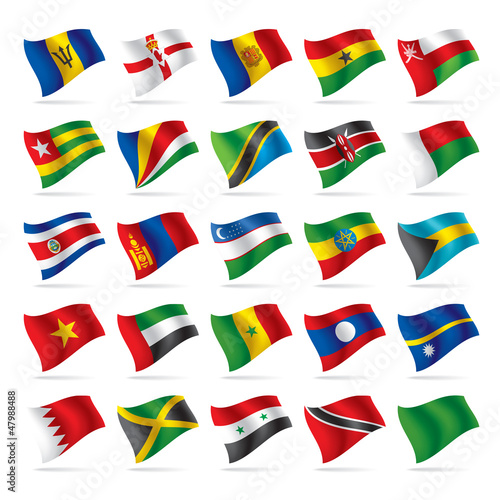 Set of world flags 5