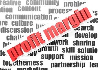 Business work of profit margin