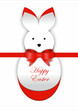 Curl paper Easter bunny card