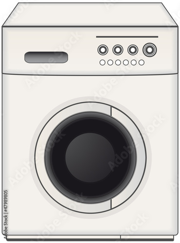 modern isolated home washing machine
