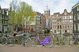 City scenic from Amsterdam in the Netherlands poster