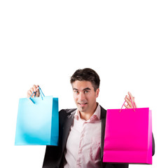Happy Man with Shopping Bags
