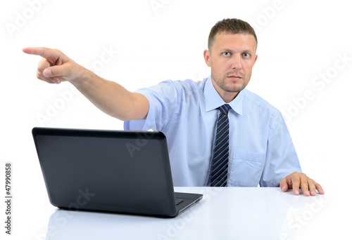 Businessman shows his hand, You are fired