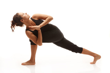 Young woman in yoga pose