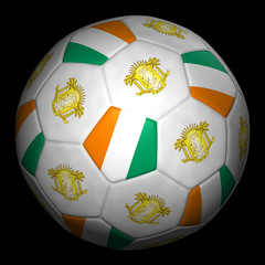 Fussball mit Fahne Elfenbeinküste