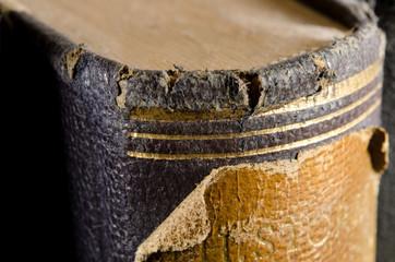 antiker Bucheinband, makro