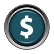 Dollar, paiement, cash, bouton, internet, icône, web