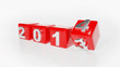 New year 2014 3d cubes