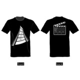t-shirt with film tape vector illustration
