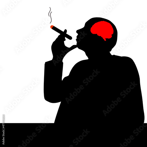 man with cigar vector illustration