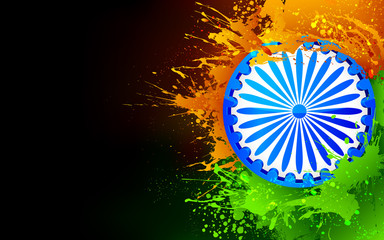 India Background in tricolor