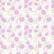 Seamless pattern with elegance stylize roses