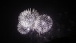 Colorful Long Firework lights streaks in the night sky in 1080p