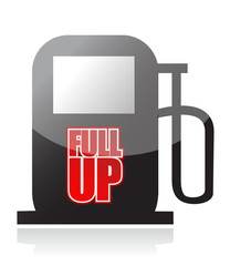 pump and the words Fuel Up on its front