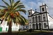 Leinwanddruck Bild - Azores - Island Of Pico - Church in Lajes do Pico