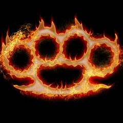burning knuckle duster