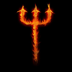 burning devils trident fork