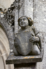 The smiling angel of La Rochepot castle, Burgundy