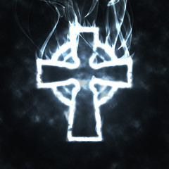 celtic cross in the smoke