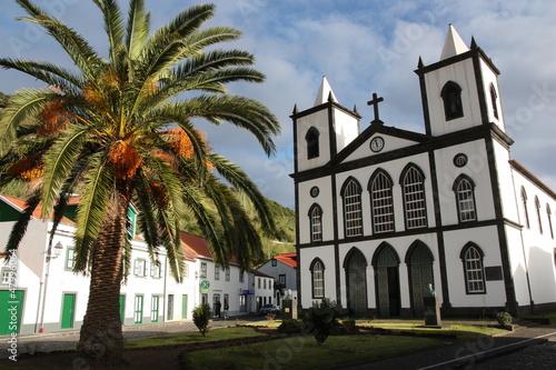 Leinwanddruck Bild Azores - Island Of Pico - Church in Lajes do Pico