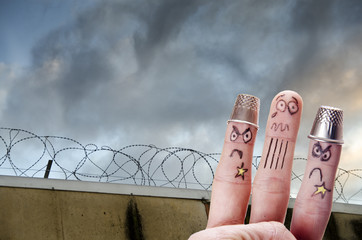 Finger is captive