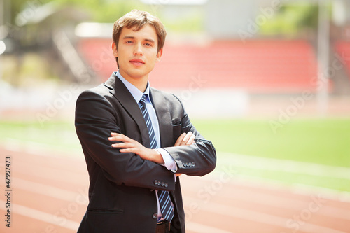 Portrait of a businessman, Outdoor
