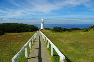 Path leading to an australian lighthouse
