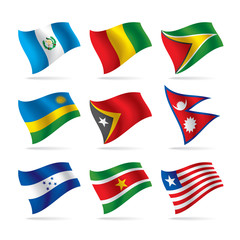 Set of world flags 9