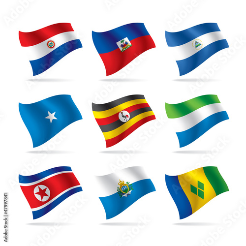 Set of world flags 10