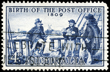 AUSTRALIA - CIRCA 1959 Postmaster Isaac Nichols