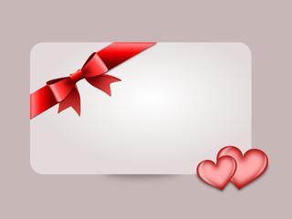 Gutschein in Liebe mit Herzen