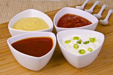Fresh homemade sauces