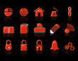 colorful Chinese Web Site & Internet icon set, VECTOR
