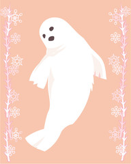 Arctic seal in a decorative illustration